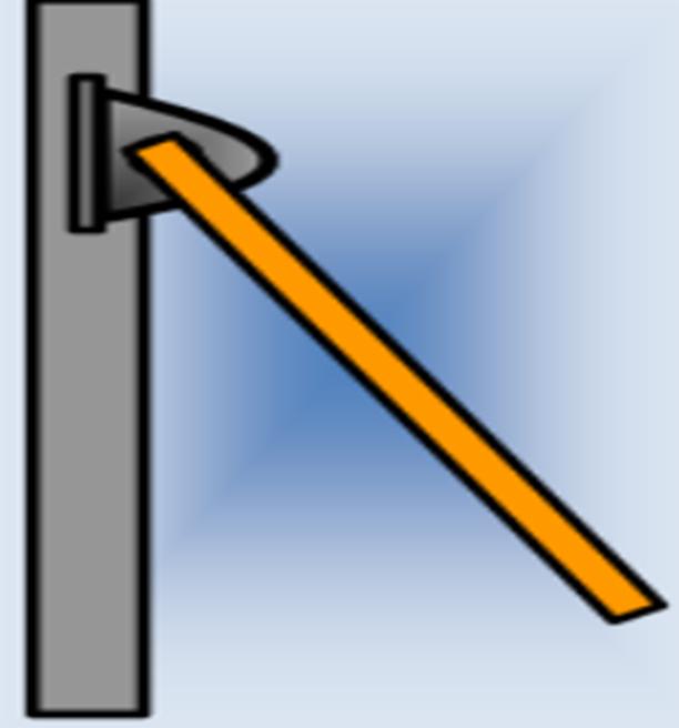 Περιστρεφόμενη ράβδος γύρω από σταθερό κατακόρυφο άξονα