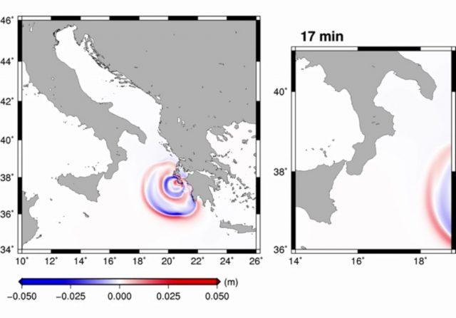 Το τσουνάμι από τον σεισμό  της Ζακύνθου (26/10/2018).