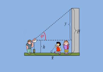 Μέτρηση ύψους κτηρίων, δέντρων και άλλων.