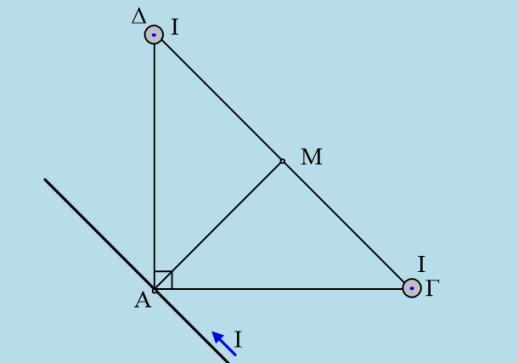 Μαγνητικό πεδίο τριών αγωγών