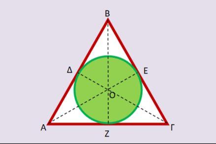Εγγεγραμμένη σε τρίγωνο, πλατεία κυκλική…