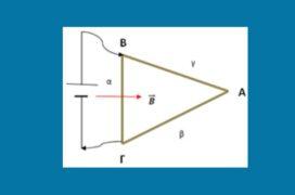 Δύναμη Laplace σε τρίγωνο